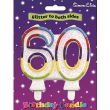 Simon Elvin Age 60 Milestone Candle
