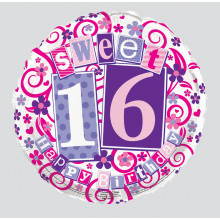 Foil Balloon Sweet 16