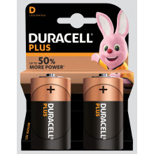 Duracell Plus D Batteries Pack 2