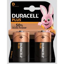 Duracell Plus D Batteries Pack 2