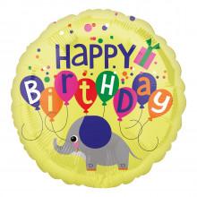 "Foil Balloons Birthday Elephant 18"""