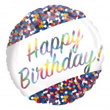 "Foil Balloons Birthday Confetti 18"""