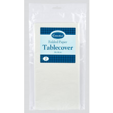 White Paper Tablecover 90x90cm Pack 2