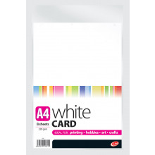 A4 White Card 8 Sheets 220gsm