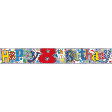 2.5m Party Banner Age 8 Boy
