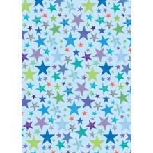 Flat Gift Wrap Blue Stars GW2616