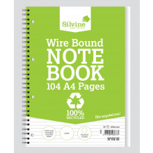 A4 Recycled Twinwire Notebook Feint 104p