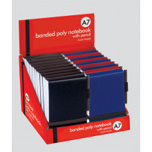 A7 Plain Banded Poly Notebook & Pencil
