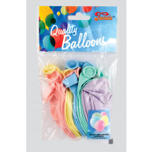 "12"" Assorted Pastel Balloons 20s"