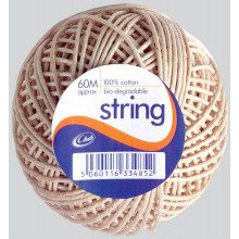 Cotton String Balls 60m Approx