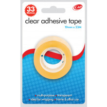Clear Tape 19mmx33m Carded