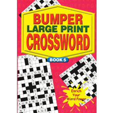 A4 Bumper Large Print Crossword 2 Asstd