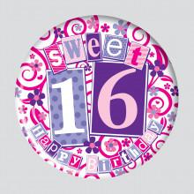 Age 16 Female 150mm Large Badge