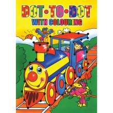 Dot To Dot Colouring Book A4 64pg 4 Asst