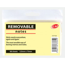 Club Yellow Notes 125x75mm