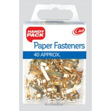 S4905 Paper Fasteners Brass H/Pack
