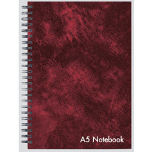 A5 Leather Look Wire Notebook 144 Pages