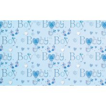 Flat Gift Wrap Baby Boy GW2594