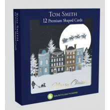 12 Shaped Midnight Scene Cards