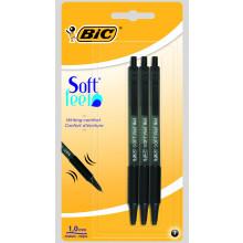 Bic Black Soft Feel Pen 3s