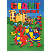 Giant Colouring Book 144 Pages 2 Asst