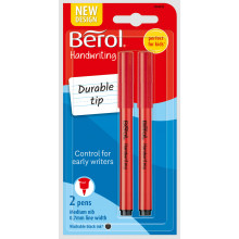Berol Handwriting Pens Black Twin Pack