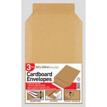 Pack 3 Cardboard Envelopes 245x345mm