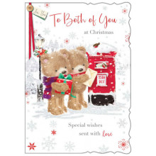 Grandson & Partner Cute 50 Xmas Card
