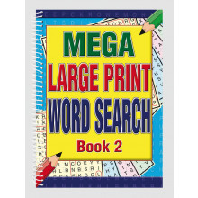 A4 Mega Large Print Wordsearch 2 Asst
