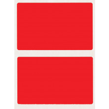 S/A LABELS REF.RED 50x80mm