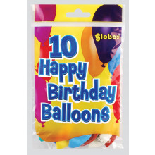 Birthday Balloons Pack 10 Clip Strip