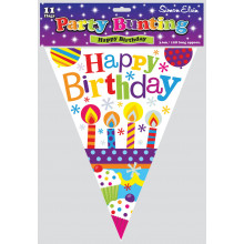 Candles Birthday Bunting 11 Flags 3.6m