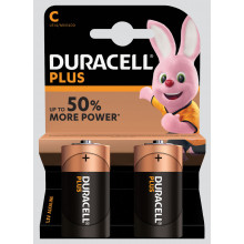 Duracell Plus C Batteries Pack 2