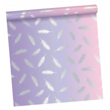 2.5m Gift Wrap Roll Water Lily 2 Asst