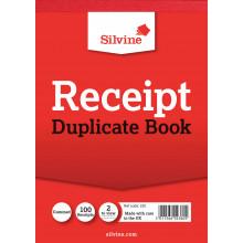 Silvine Duplicate Receipt Book (100pgs)