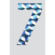 Roman Labels Holographic Numerals No.7