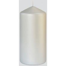 XD05606 Pillar Candle Matt Silver 7x15cm