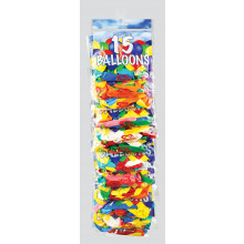 "9"" Balloons Pack 15s Clip Strip"