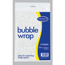 Bubble Wrap 4 Sheets 190x279mm