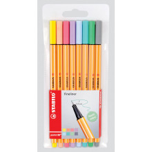 Stabilo Pastel Point 88 Pen Wlt 8