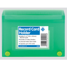 "Record Card Holders 6""x4"" Assorted"