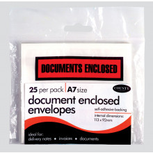 A7 Document Enclosed Envelopes 25s