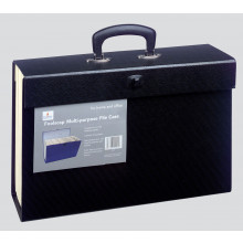 Foolscap Multi Purpose File Case Black