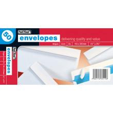 White Envelopes DL Peel & Seal 50s