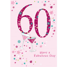 Greetings Cards 60th Female
