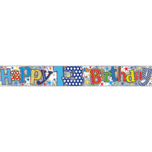 2.5m Party Banner Age 13 Boy