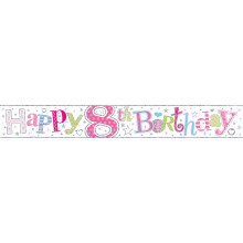 2.5m Party Banner Age 8 Girl