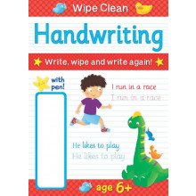 Educational Wipe Clean Book & Pen 4 Asst