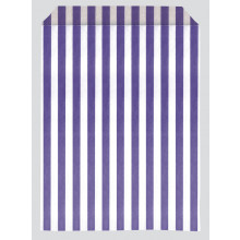 Purple Stripe Paper Bags 17x22cm Pk 1000