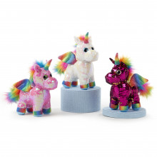 25cm Sequin Unicorn Soft Toy With Sparkling Eyes